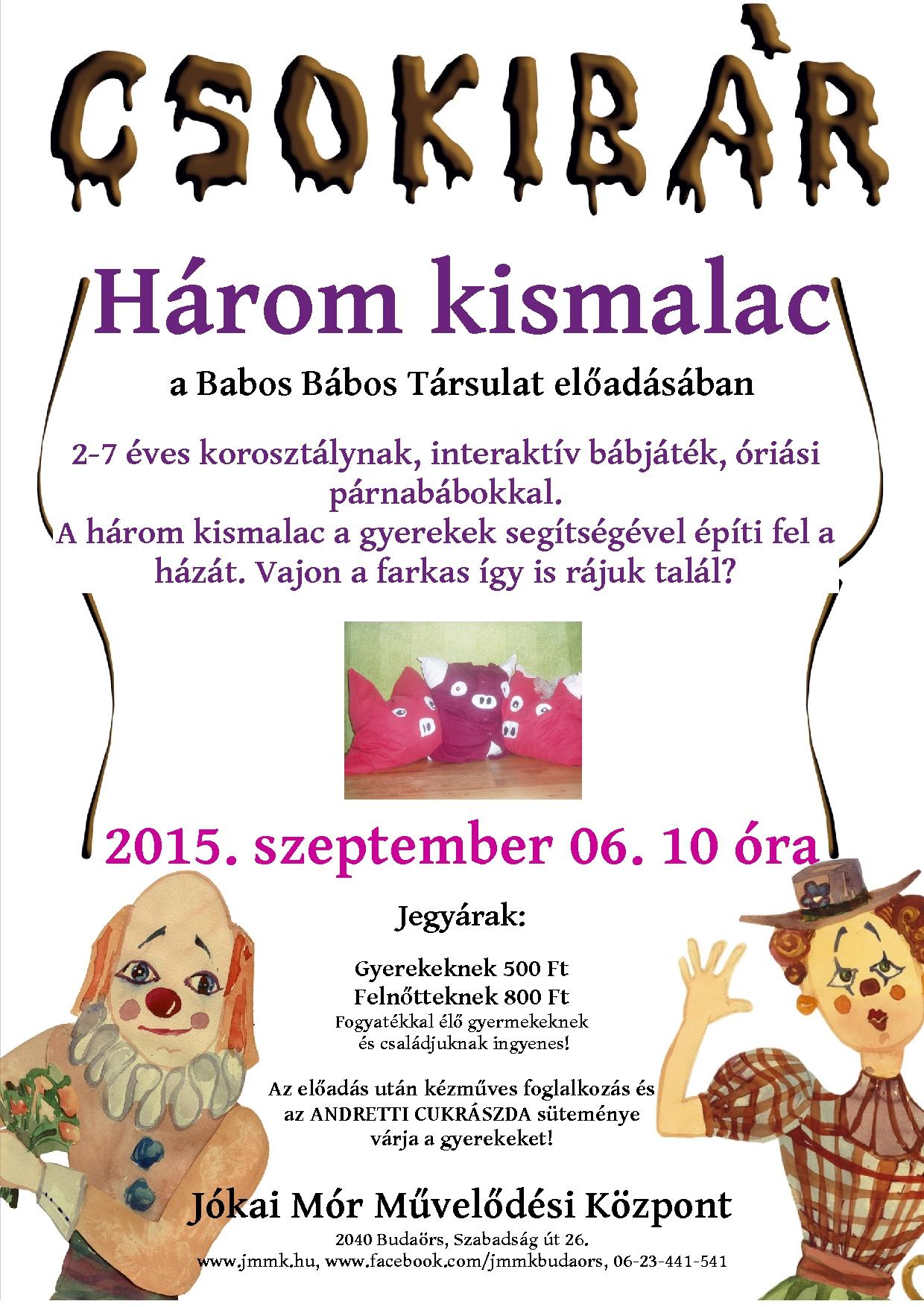 csokibár plakát szeptember
