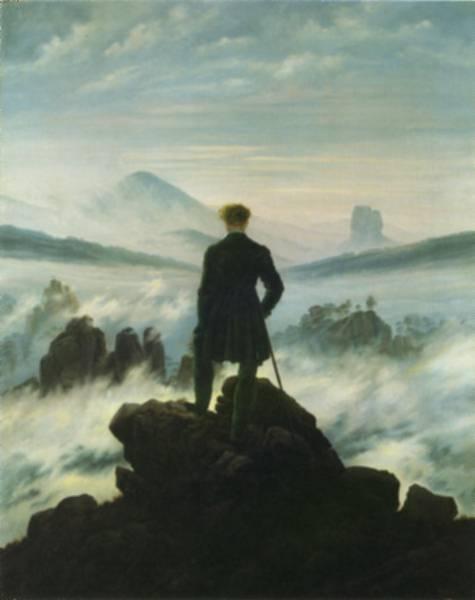 3 A modern kor alapjai - A XIX század művészete - Caspar David Friedrich -A vándor a ködtenger felett 1818